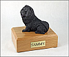 Chow, Black Dog Figurine Urn