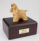 Cocker Spaniel Buff Standing Dog Figurine Cremation Urn