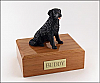 Labrador, Black, Long Hair, Dog Figurine Cremation Urn