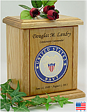 USN Recessed Medallion Cremation Urn