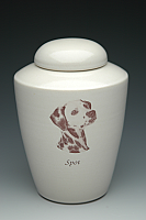 Sepia Photo Dog Cremation Urn