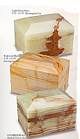 Marble Rectangular Cremation Urns