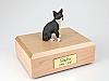 Chihuahua, Black/White Sitting Dog Figurine Cremation Urn