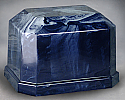 Navarro Navy Blue Marble Single Adult Cremation Urn