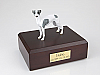 Whippet, White-Spot Black Nose Dog Figurine Cremation Urn