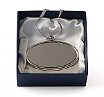 Silver Oval Pendant Nameplate