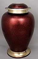 Cardinal Red Brass Cremation Urn