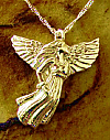 Gold Angel Cremation Keepsake Pendant Urn