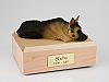 German Shepherd, Tan/Black  Dog Figurine Cremation Urn