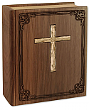 Hardwood Bible Companion Cremation Urn