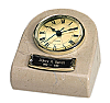 Marble Keepsake Clock Urn - Cream Wash