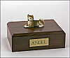 Husky, Red Laying Dog Figurine Cremation Urn
