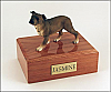 Staffordshire Terrier Black nose, Standing  Dog Figurine Cremation Urn