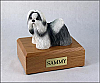 Shih Tzu, Black-White Standing Dog Figurine Cremation Urn