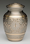 Small Platinum and Gold Pet Cremation Urn