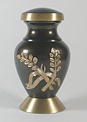 Wheat Stalk Brass Keepsake Urn