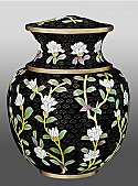 Midnight Garden Cloisonne Adult Cremation Urn