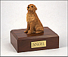 Golden Retriever, Golden Sitting Dog Figurine Cremation Urn