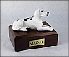 Great Dane, Harlequin - ears down Laying Dog Figurine Cremation Urn