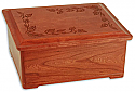 Autumn Leaves Cherry Wood Cremation Urn