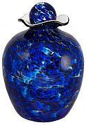 Bella Blue Glass Adult Cremation Urn