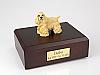 Cocker, Blond - Standing  Dog Figurine Cremation Urn