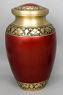 Red Brass Alexa IV Cremation Urn