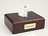 Samoyed Black Nose Sitting Dog Figurine Cremation Urn