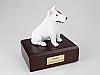 Bull Terrier White Sitting Dog Figurine Cremation Urn