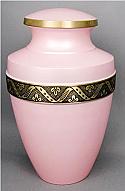 Soft Pink Brass Cremation Urn