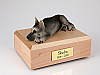 German Shepherd, Black/Silver  Dog Figurine Cremation Urn