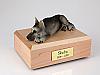 German Shepherd, Black/Silver  Dog Figurine Cremation Urn