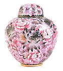 Floral Blush Cloisonne Cremation Urn