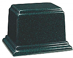 Large Rectangle Cultured Granite Cremation Urn