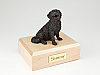 Bernese Mountain Bronze Sitting Dog Figurine Cremation Urn