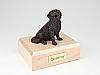 Bernese Mountain Bronze Sitting Dog Figurine Cremation Urn