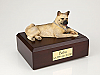 Akita White Laying Dog Fawn Figurine Urn