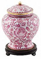 Rose Cloisonne Cremation Urn