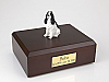 Springer Spaniel, Black Dog Figurine Cremation Urn