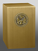 Army Medallion Bronze Cremation Urn