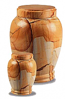 Small Traditional Teakwood Marble Cremation Urns