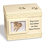Stone Picture Frame Dog Cremation Urn - Personalized
