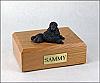 Poodle, Black - show cut Dog Figurine Cremation Urn