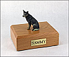 Australian Cattle Dog Blue/Gray Sitting Dog Figurine Cremation Urn