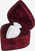 White Grain Marble Keepsake Cremation Urn