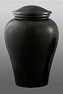 Arno Black Marble Adult Cremation Urn