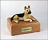 German Shepherd, Tan  Dog Figurine Cremation Urn