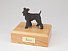 Fox Terrier, Bronze  Dog Figurine Cremation Urn