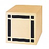 Bronze Cube Diamond Urn