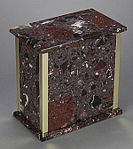 Small Rosso Levanto Cremation Urn with Trim